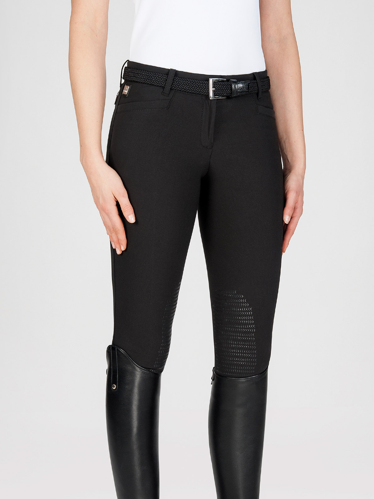ASH Women's Riding Breeches with X-Grip Knee Patch in black