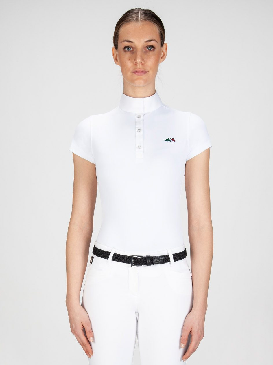 Equiline Isabel short sleeve women's show shirt in technical fabric