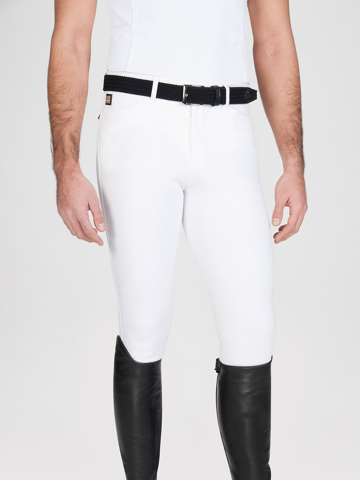Willow men's knee grip riding breeches in white