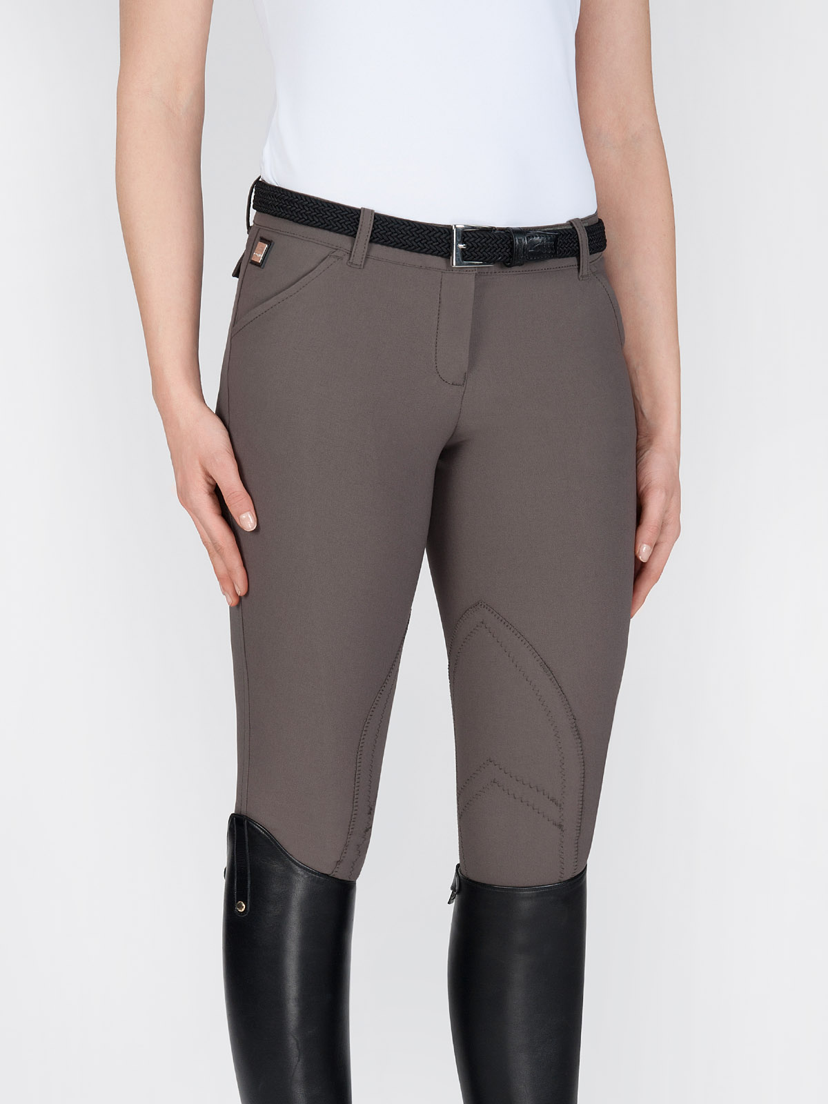 Boston Women's knee patch riding breeches in performance fabric
